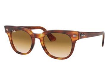984c9f032e ... Gradient Beige Striped Frame Ray-Ban METEOR RB2168 Sunglasses 954 51-50  - Stripped Havana Frame